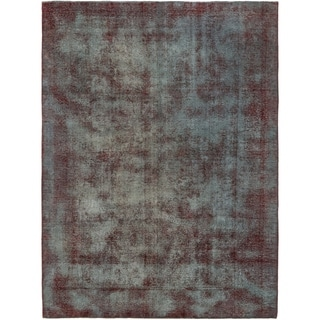 Hand Knotted Ultra Vintage Antique Wool Area Rug - 8' x 10' 10