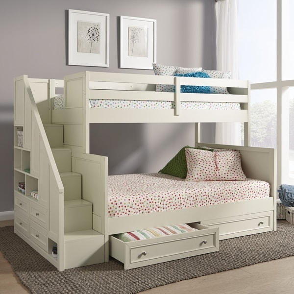 Shop Home Styles Naples Twin Over Full Bunk Bed With Steps