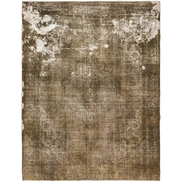 Hand Knotted Ultra Vintage Antique Wool Area Rug - 9' 2 x 12'
