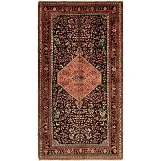 Hand Knotted Tuiserkan Semi Antique Wool Area Rug - 5' 6 x 10' 7