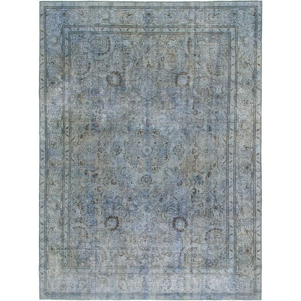 Hand Knotted Ultra Vintage Wool Area Rug - 9' 3 x 12' 6