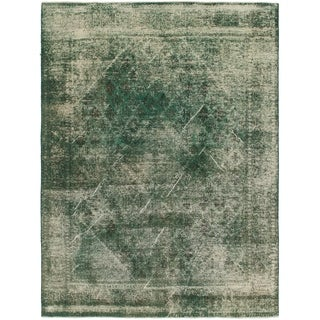 Hand Knotted Ultra Vintage Wool Area Rug - 8' X 11'