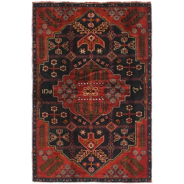 Hand Knotted Tuiserkan Semi Antique Wool Area Rug - 4' x 6' 9