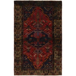 Hand Knotted Tuiserkan Semi Antique Wool Area Rug - 4' x 6' 2