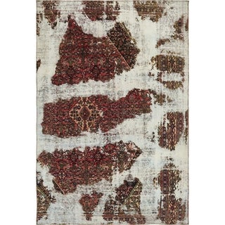 Hand Knotted Ultra Vintage Antique Wool Area Rug - 7' 10 x 11' 6