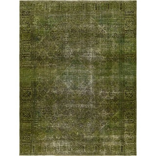 Hand Knotted Ultra Vintage Antique Wool Area Rug - 9' 4 x 12' 3