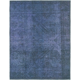 Hand Knotted Ultra Vintage Wool Area Rug - 3' 5 x 4' 5