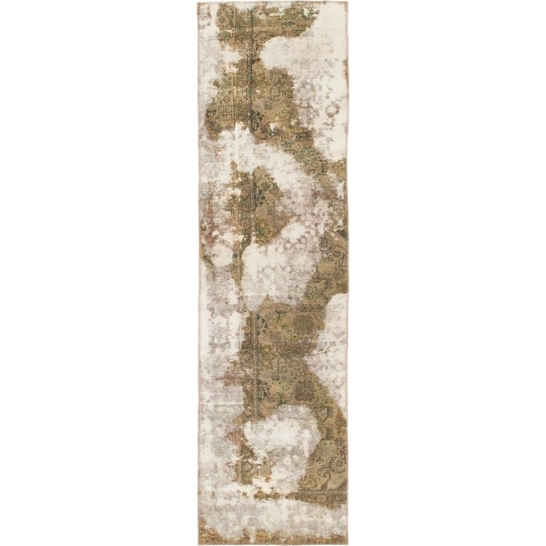 Hand Knotted Ultra Vintage Wool Runner Rug - 2' 9 x 10'