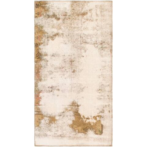 Hand Knotted Ultra Vintage Antique Wool Area Rug - 2' 7 x 5'