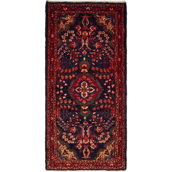 Hand Knotted Tuiserkan Wool Area Rug - 3' 7 x 5' 4