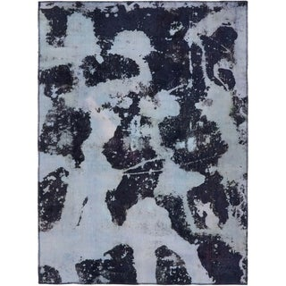 Hand Knotted Ultra Vintage Antique Wool Area Rug - 4' 9 x 6' 6
