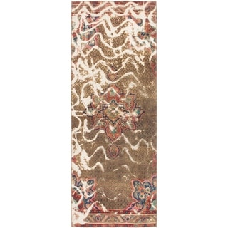 Hand Knotted Ultra Vintage Wool Runner Rug - 3' 5 x 9' 9