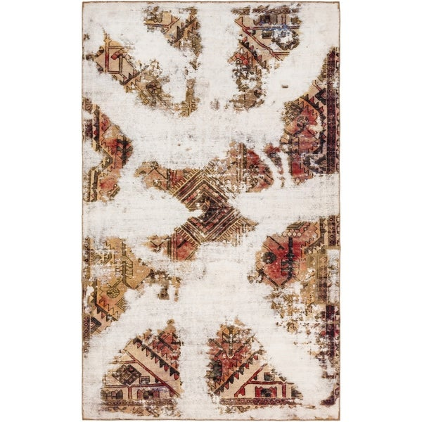 Hand Knotted Ultra Vintage Antique Wool Area Rug - 5' 9 x 9' 5