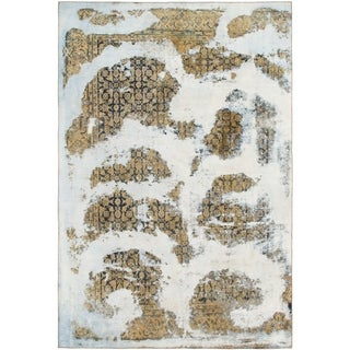 Hand Knotted Ultra Vintage Wool Area Rug - 7' 10 x 11' 8