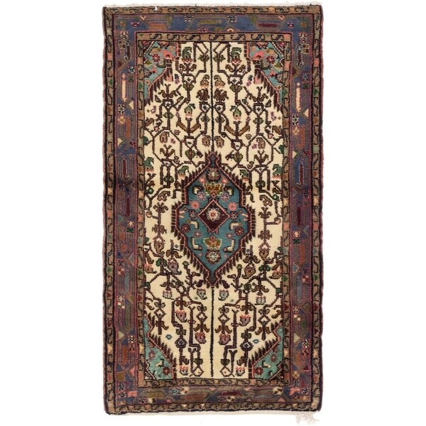 Hand Knotted Tuiserkan Wool Area Rug - 2' 9 x 5' 2