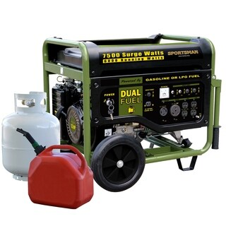 Sportsman 7500 Watt Dual Fuel Generator - Green - N/A
