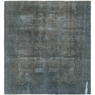 Hand Knotted Ultra Vintage Wool Square Rug - 9' 5 x 10' 3