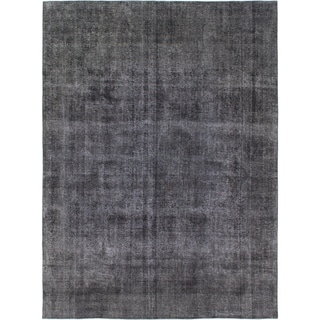 Hand Knotted Ultra Vintage Wool Area Rug - 9' 2 x 12' 2