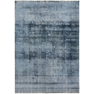 Hand Knotted Ultra Vintage Antique Wool Area Rug - 7' 5 x 10' 5