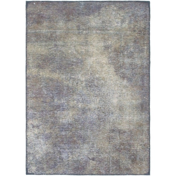 Hand Knotted Ultra Vintage Antique Wool Area Rug - 3' 3 x 4' 8