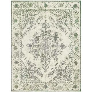 Hand Knotted Ultra Vintage Antique Wool Area Rug - 9' 3 x 12' 3