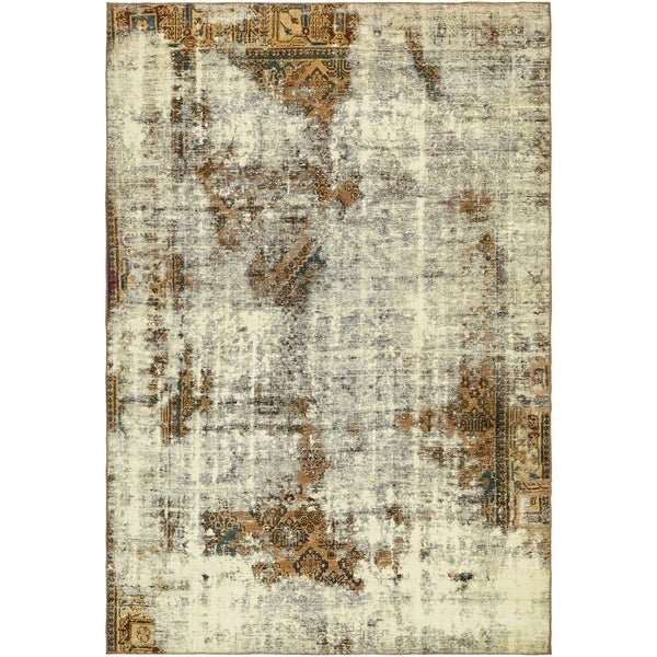 Hand Knotted Ultra Vintage Antique Wool Area Rug - 7' 2 x 10' 6