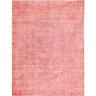 Hand Knotted Ultra Vintage Wool Area Rug - 9' 7 x 12' 7