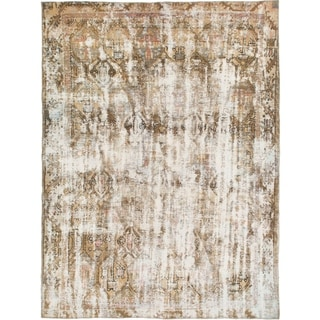 Hand Knotted Ultra Vintage Wool Area Rug - 6' 8 x 8' 8