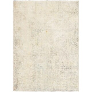 Hand Knotted Ultra Vintage Wool Area Rug - 3' 10 x 5' 5