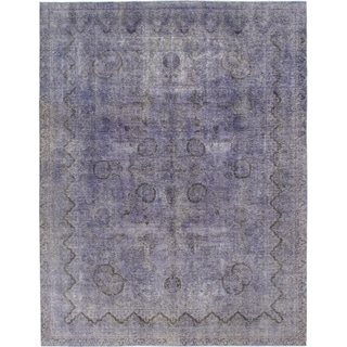 Hand Knotted Ultra Vintage Wool Area Rug - 9' 9 x 12' 6