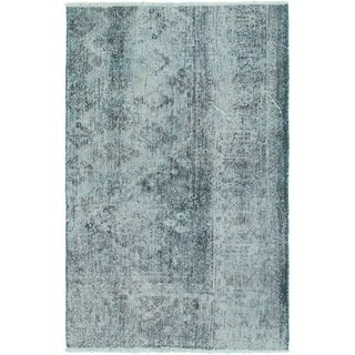 Hand Knotted Ultra Vintage Wool Area Rug - 3' 6 x 5' 6