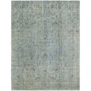 Hand Knotted Ultra Vintage Wool Area Rug - 9' 4 x 12' 4