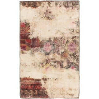 Hand Knotted Ultra Vintage Wool Area Rug - 2' 5 x 4'