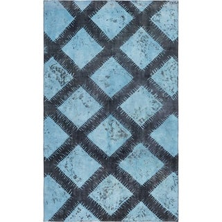 Hand Knotted Ultra Vintage Antique Wool Area Rug - 7' 9 x 9' 9