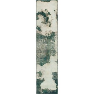 Hand Knotted Ultra Vintage Wool Runner Rug - 2' 2 x 9' 7