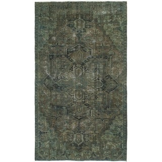 Hand Knotted Ultra Vintage Wool Area Rug - 5' 9 x 10' 3