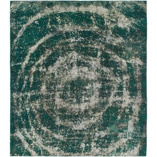 Hand Knotted Ultra Vintage Wool Square Rug - 7' 10 x 9'