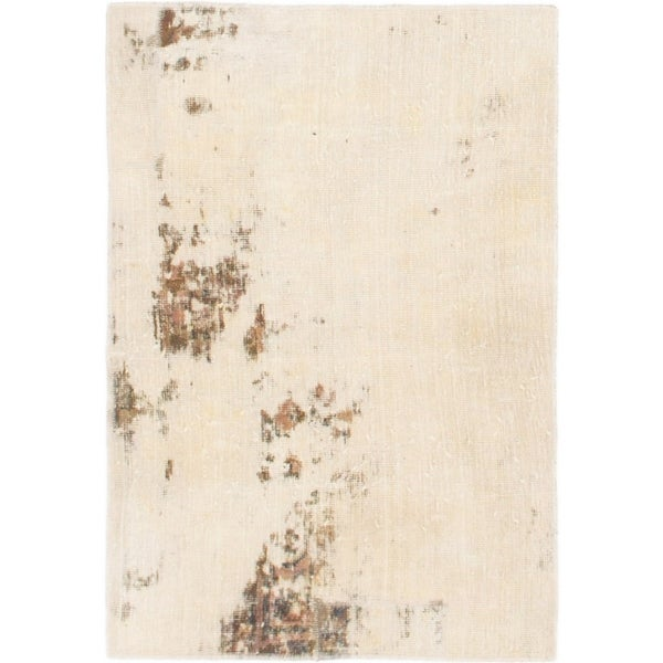 Hand Knotted Ultra Vintage Wool Area Rug - 2' 3 x 3' 8