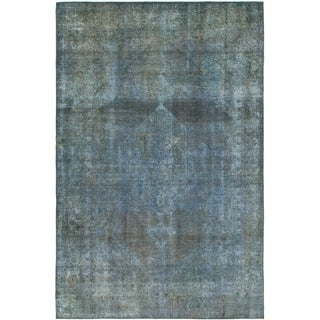 Hand Knotted Ultra Vintage Wool Area Rug - 7' 2 x 11'