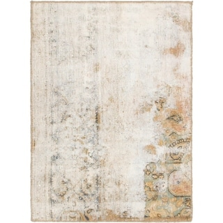 Hand Knotted Ultra Vintage Antique Wool Area Rug - 2' 7 x 3' 8