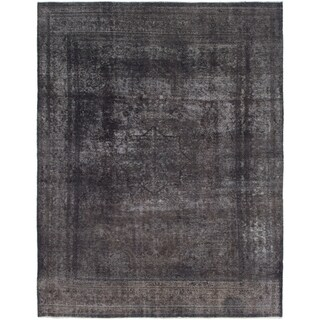 Hand Knotted Ultra Vintage Wool Area Rug - 9' 3 x 12' 5