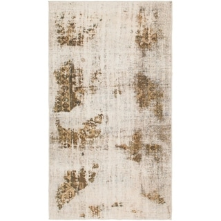 Hand Knotted Ultra Vintage Wool Area Rug - 4' 9 x 8' 10