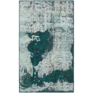 Hand Knotted Ultra Vintage Wool Area Rug - 2' 7 x 4' 5