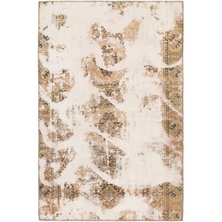 Hand Knotted Ultra Vintage Wool Area Rug - 3' 9 x 5' 10