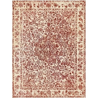 Hand Knotted Ultra Vintage Antique Wool Area Rug - 9' 6 x 12' 10