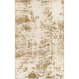 Hand Knotted Ultra Vintage Wool Area Rug - 5' x 8' 3