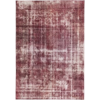 Hand Knotted Ultra Vintage Wool Area Rug - 9' 10 x 14' 4