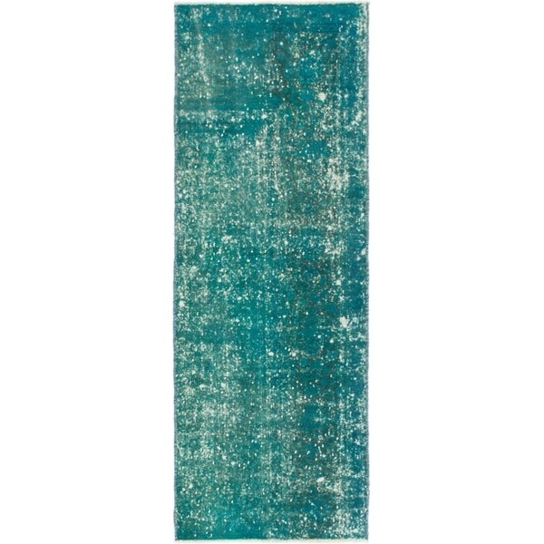 Hand Knotted Ultra Vintage Wool Runner Rug - 2' 6 x 7'
