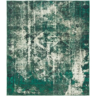 Hand Knotted Ultra Vintage Antique Wool Square Rug - 5' 4 x 6' 2