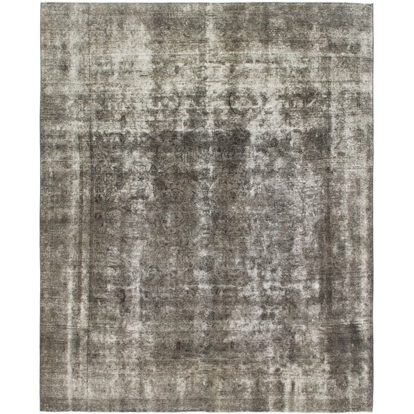 Hand Knotted Ultra Vintage Wool Area Rug - 9' 10 x 12' 3